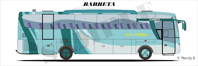 DESIGN BUS 2D BARRETA KAROSERI INDONESIA