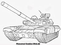 Mewarnai Gambar Mobil Tank Tempur Canggih Keren