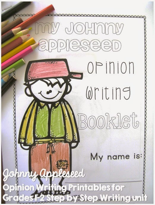 Johnny Appleseed Opinion Writing Printables for First and Second Grade