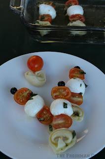 tortellini, mozzarella balls, vinaigrette