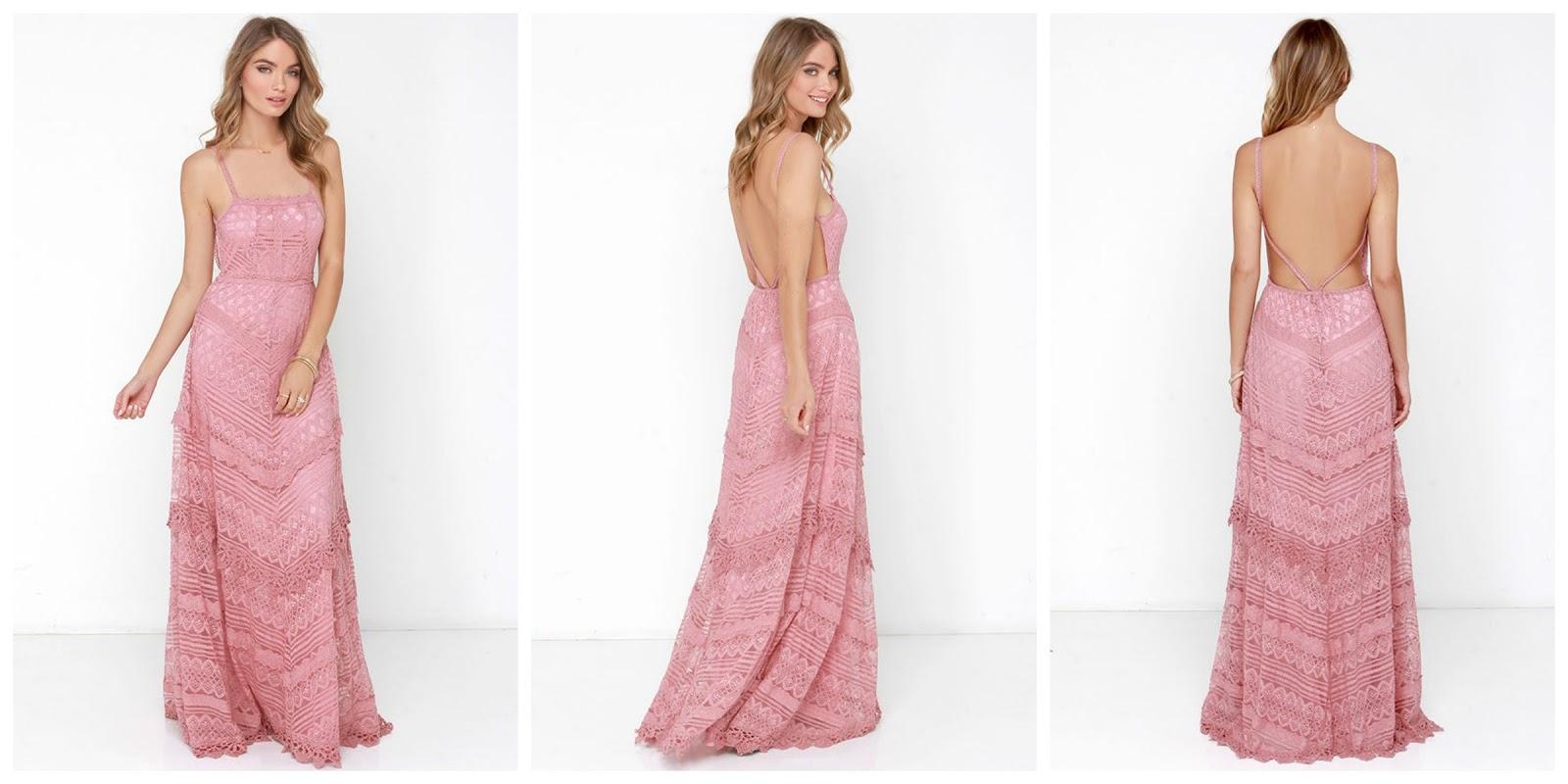 d80a1dff3fa Beneath the Garden Arbor Dusty Rose Lace Maxi Dress