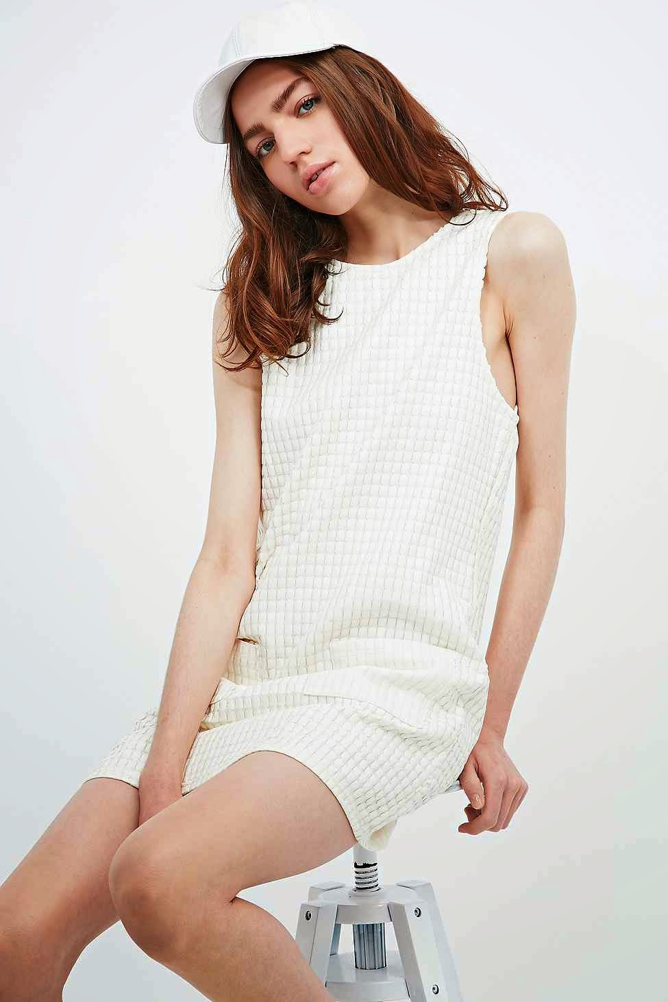 cooperative white leather dress