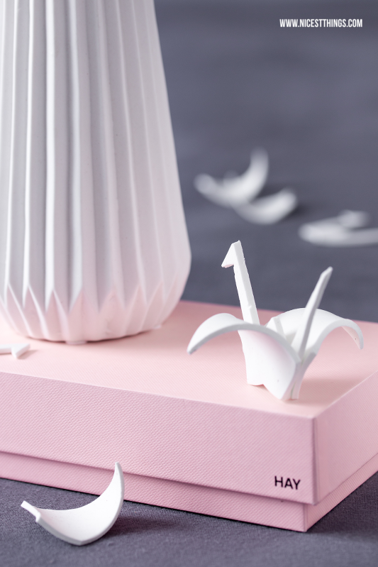 weisse origami vase nordisch wie bloomingville