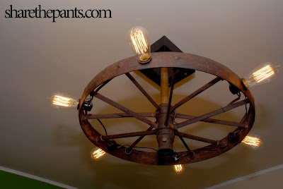 Share The Pants: Our Steampunk Chandelier