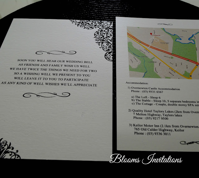 Gold Hot Stamped Wedding Invitation