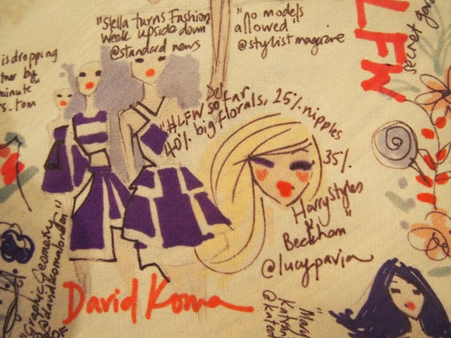 London Fashion Week illustration