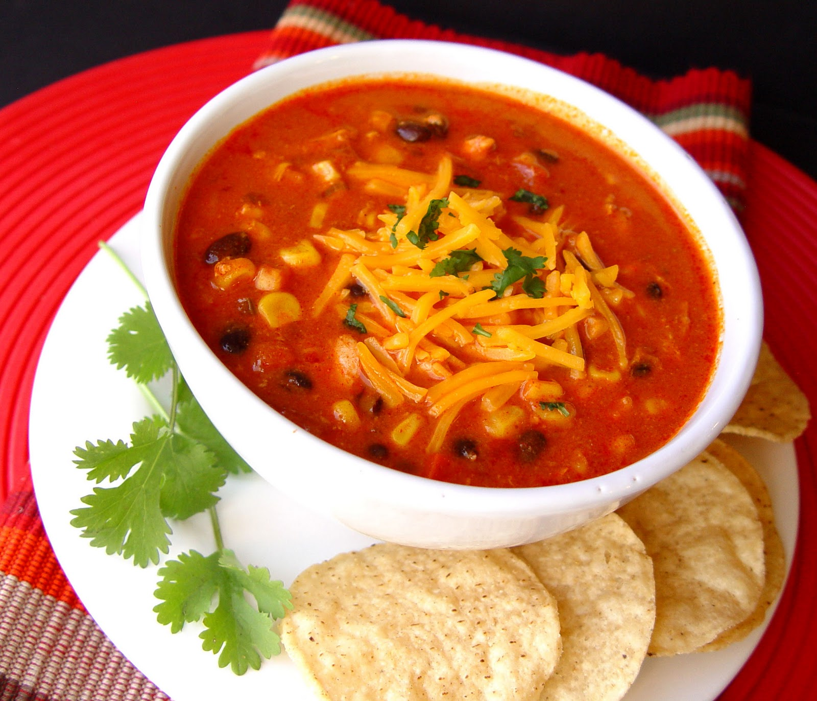 Chicken Enchilada Soup (Crock Pot) - Jamie Cooks It Up! Printable ...
