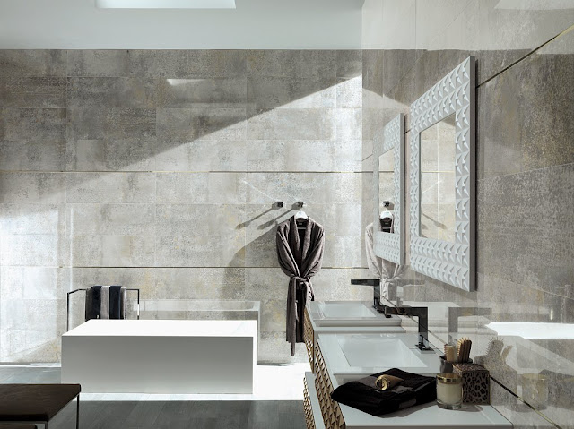 Borneo and detroit porcelanosa s new ceramic coverings at - Porcelanosa carrelage salle de bain ...