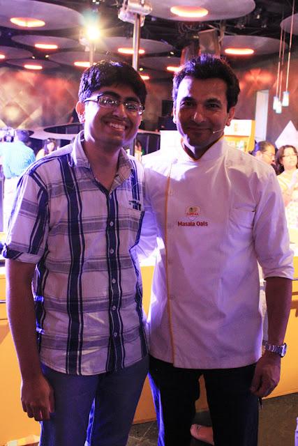 Blogger GvSparx and Master Chef Vikas Khanna