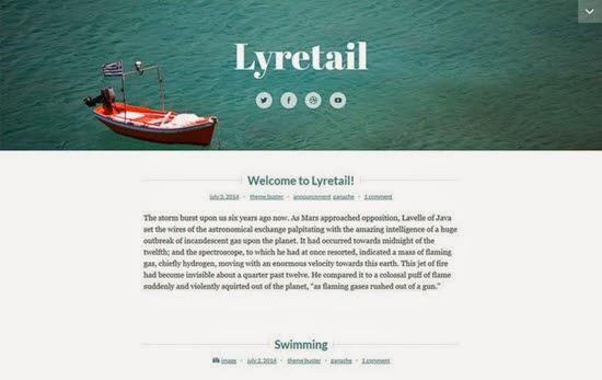 Lyretail Free WordPress Theme