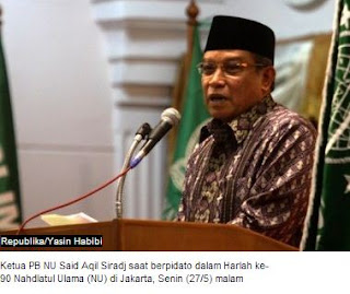 Ketua Umum Pengurus Besar Nahdlatul Ulama (PBNU) Said Aqil Siradj