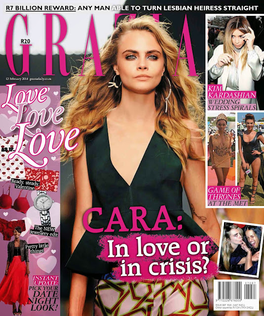 Cara Delevingne Photos from Grazia South Africa Magazine Cover February 2014 HQ Scans