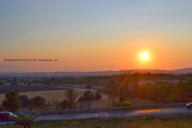 Tramonto Assisi - Shabby&CountryLife.blogspot.it
