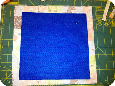 felt with fabric square