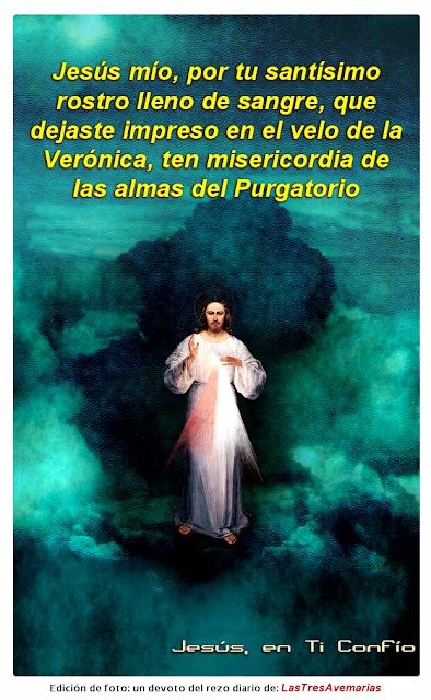 """imagen con mensaje """"oracion por los fieles difuntos"""""""