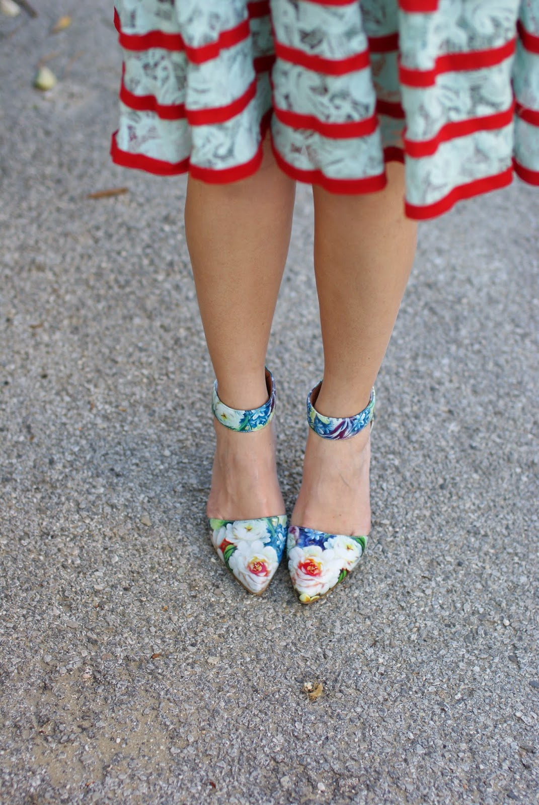 jeffrey campbell soltair floral pumps, ankle strap pumps, Fashion and Cookies, fashion blogger