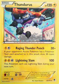 Thundurus Furious Fists Pokemon Card