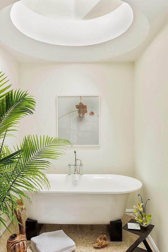 amenajari, interioare, decoratiuni, decor, design interior, stil eclectic, baie, cada pe picioare