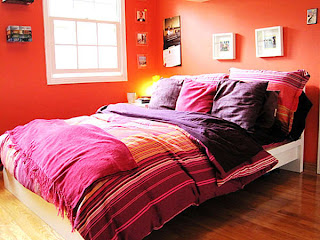 warna cat kamar tidur orange
