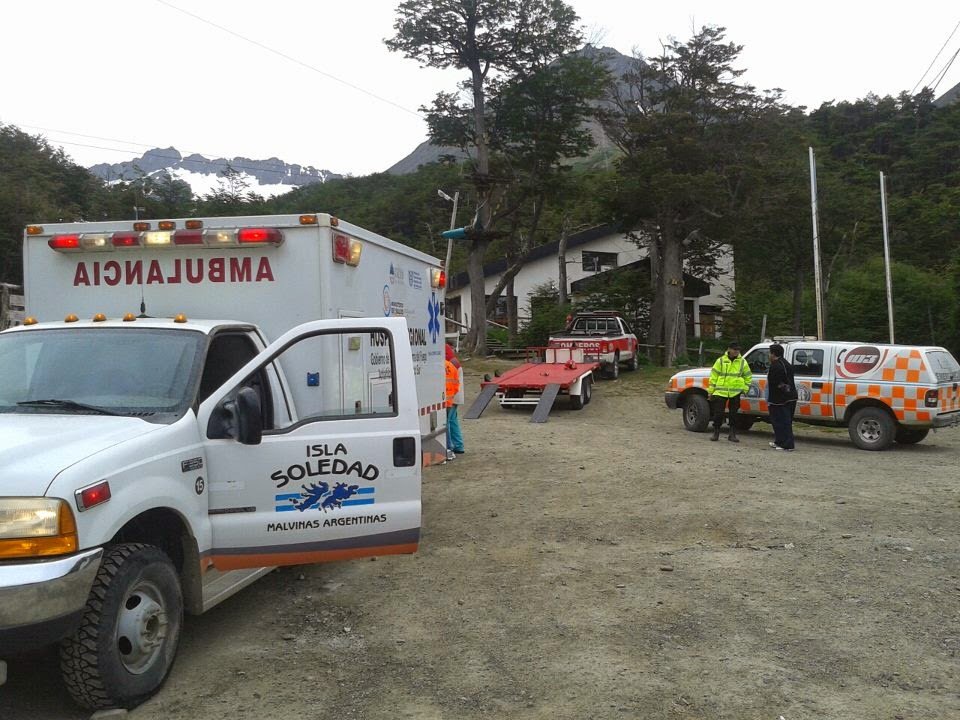 Rescataron a una joven en el Glaciar Martial