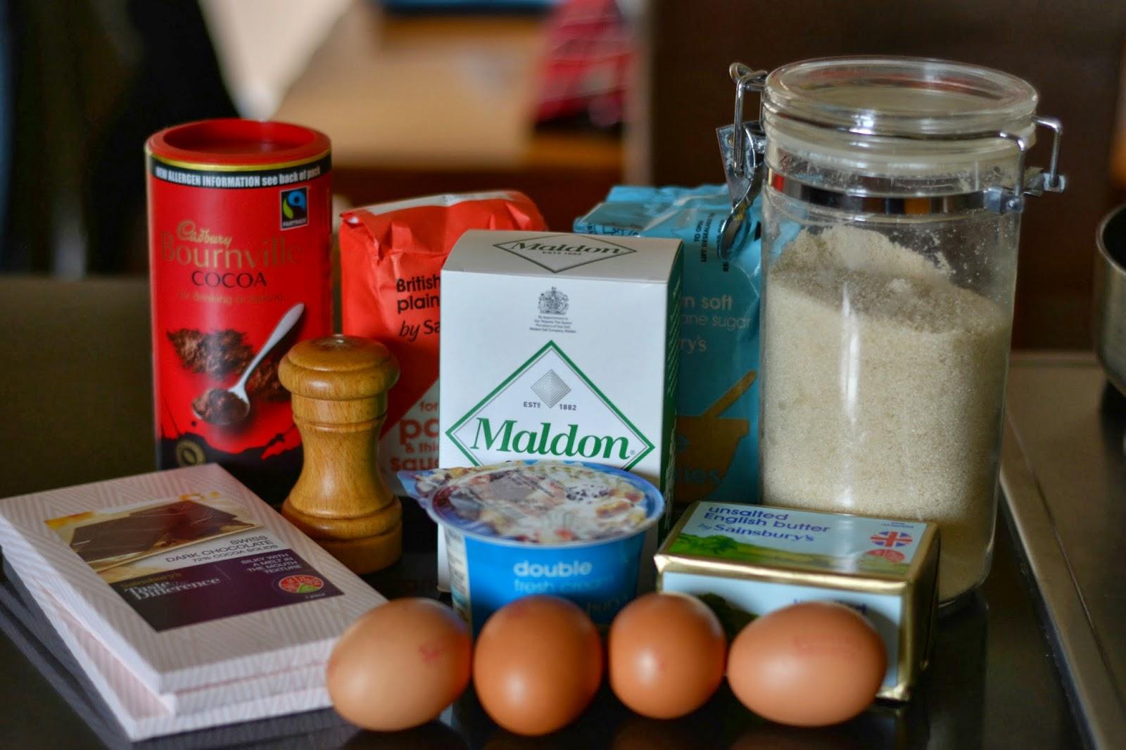 Salted Caramel Brownies Ingredients
