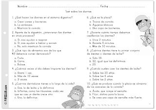 Salud Bucodental infantil by @evapipo. Actividad: Test de los dientes.