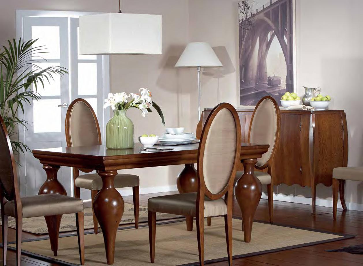 Muebles de comedor comedores clasicos ejemplo de elegancia - Disenos de comedores de madera ...