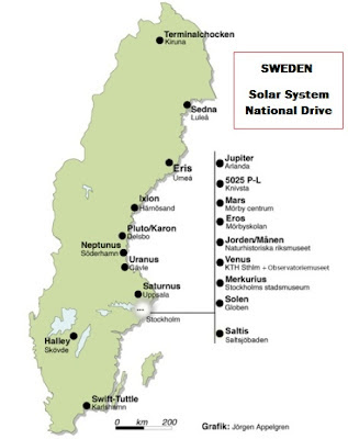 Solar System Drive in Sweden