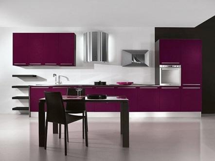 Decora y disena cocinas modernas color berenjena for Cocinas color berenjena