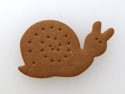 Gingersnap Snail Cookie by Nina's Show & Tell