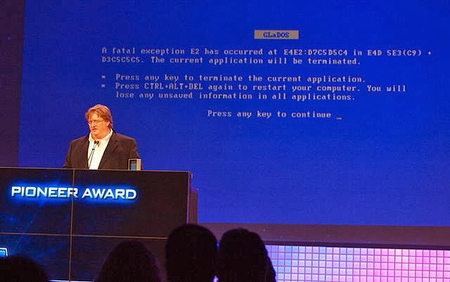 Blue Screen of death in a presentation (via commons)