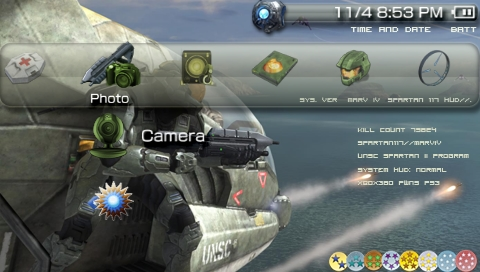 The Best Game Collections: PSP Halo 3 Spartan Gray Theme Download