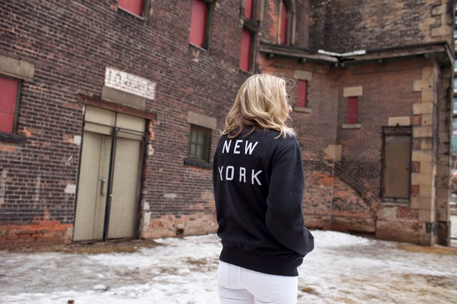 Brandy Melville Bomber sweater, New York Bomber sweater