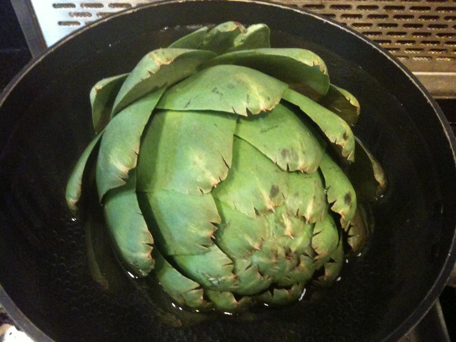 how to cut up artichoke hearts