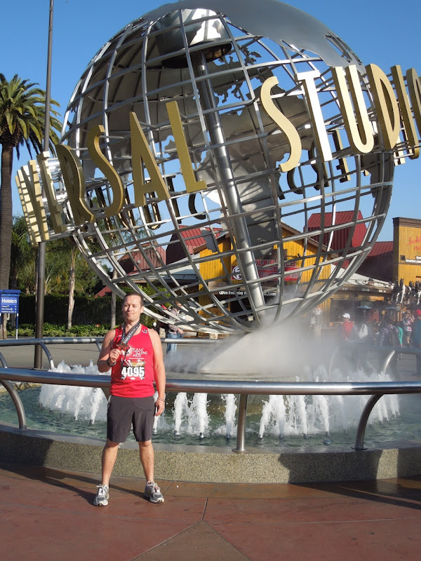 Universal Studios after race