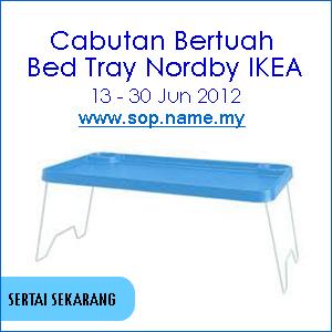 Cabutan Bertuah Jun - Bed Tray Nordby IKEA