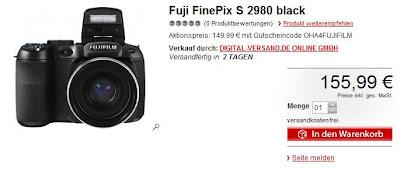 OHA zum Wochenende: Fujifilm Finepix S2980 für 140,39 Euro inklusive Versand