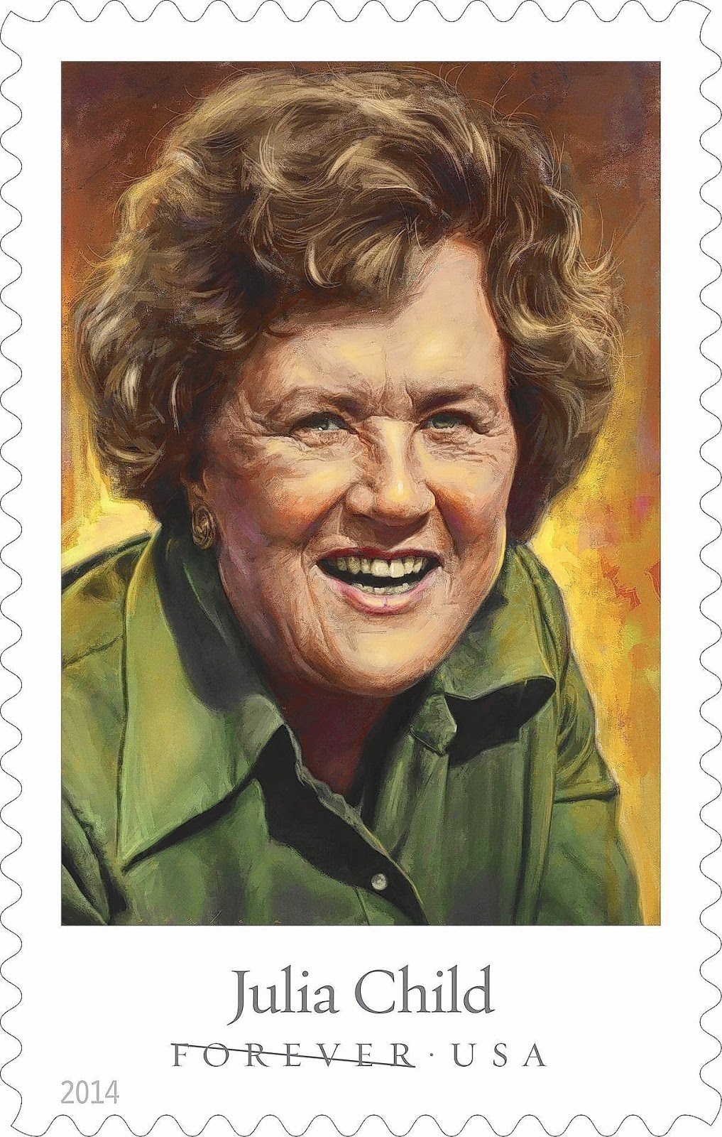 Julia Child Postage Stamp