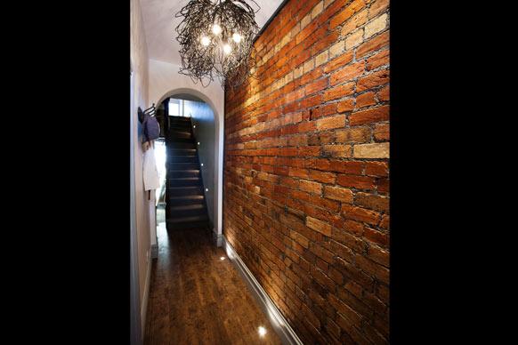 brickwall hallway