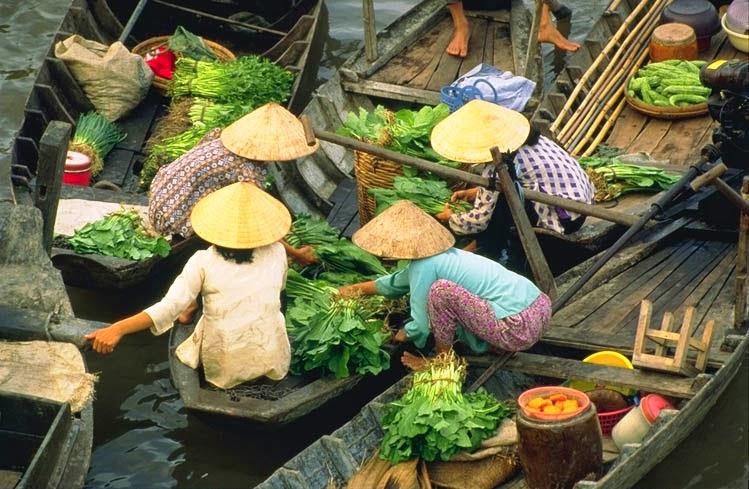 Mercado flotante Cai Rang