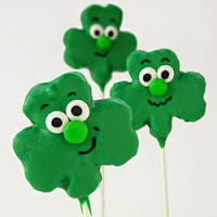 Shamrock Rice Krispie Treat Pops
