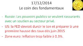 Actualités bourse 17/12/2014