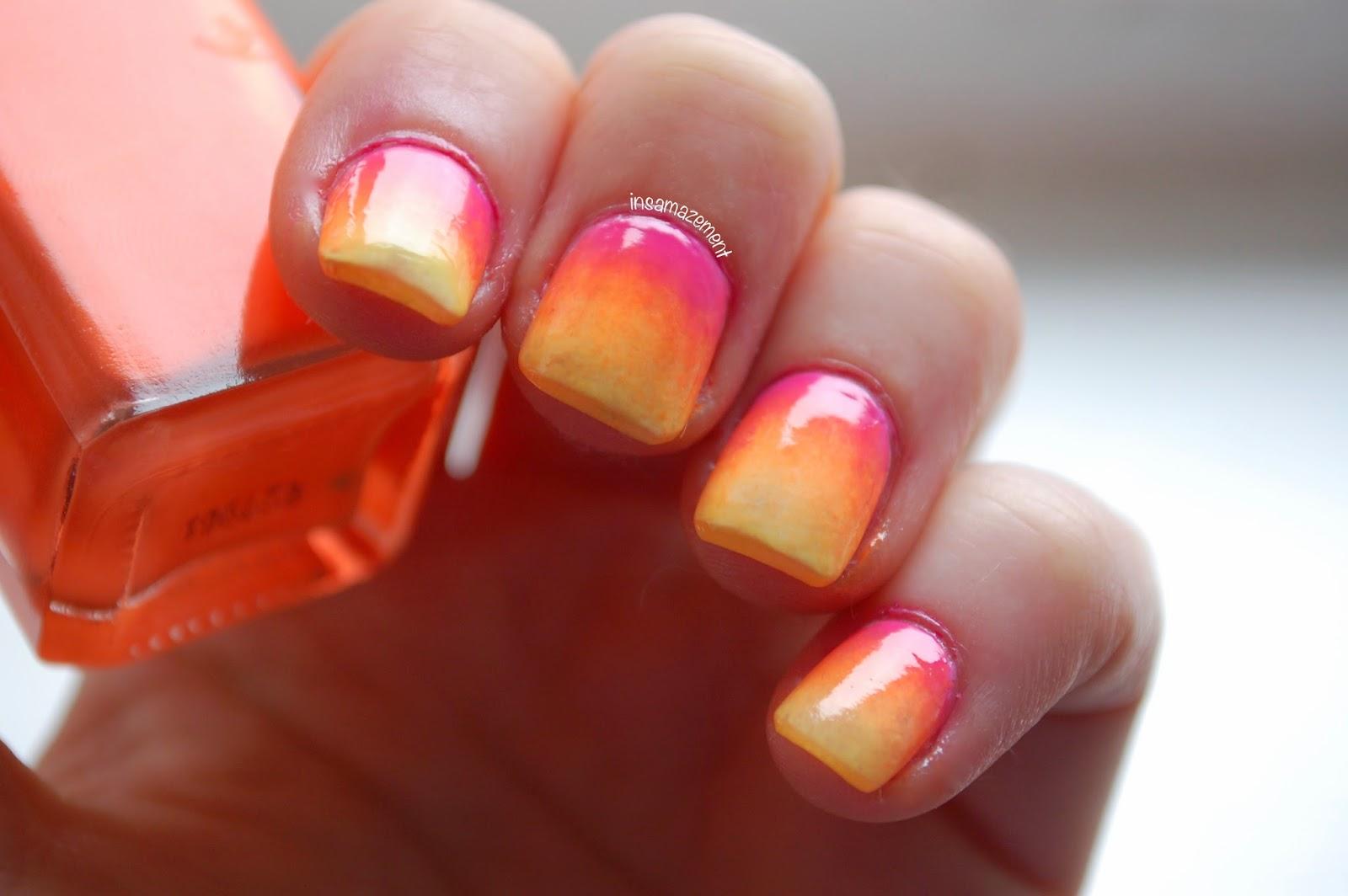 Bright Ombré Nail Art