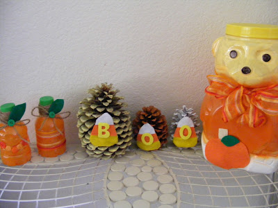 natural crafts: halloween pine cone craft