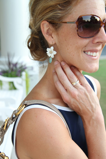 Cigi Guz/V. Vill dress, Prada Purse, Blinde Sunglasses, Steve Madden Pumps, H&M Scarf, Stella & Dot Bracelet, Diamonds Direct and Tiffany Rings