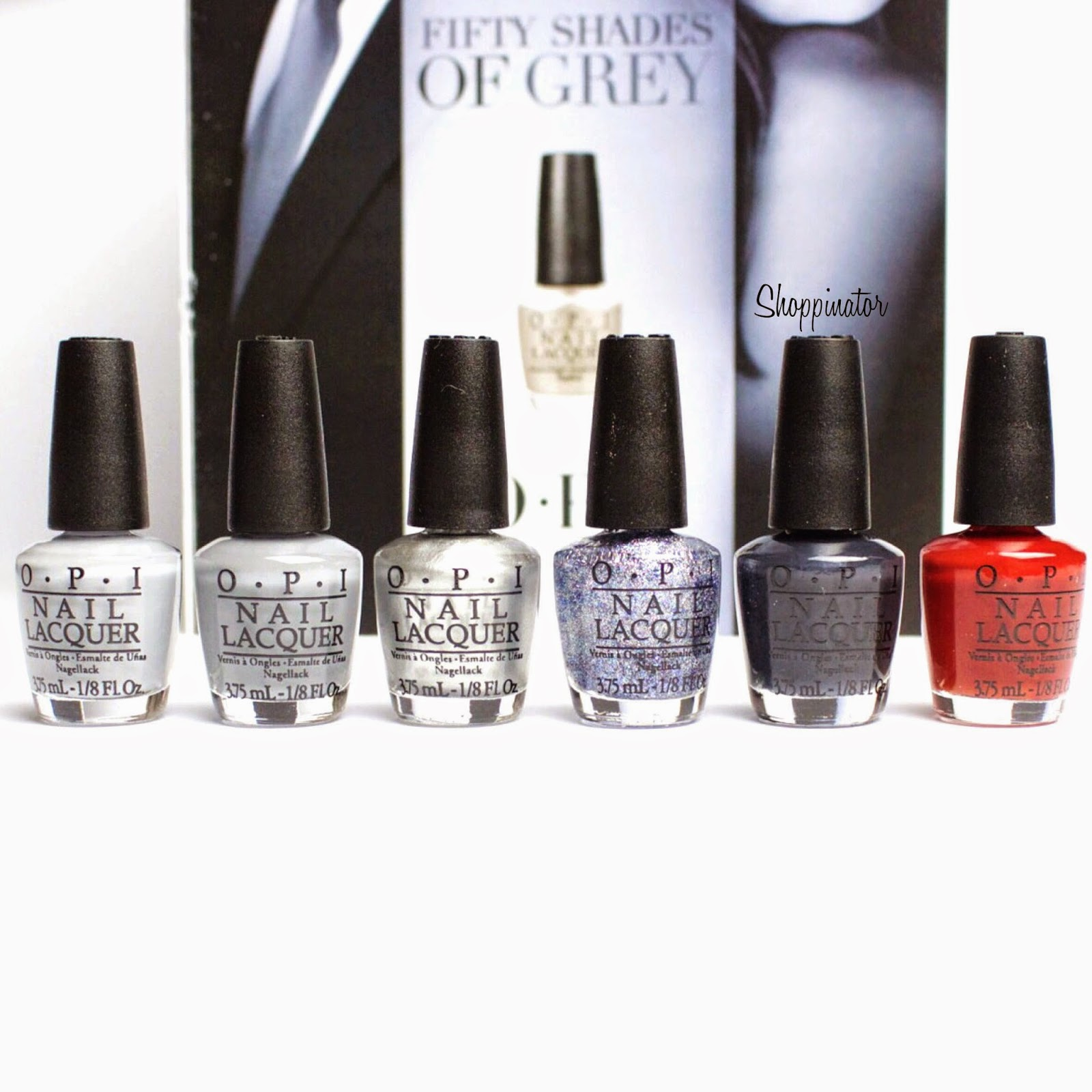 Opi-Shades-of-grey-LE-Swatch-Shoppinator-Cement-the-deal-Mini-Set-50-Shades-of-Grey-My-Silk-Tie-Dark-Side-of-the-Mood-Romantically-Involved-Shine-for-me-Embrace-the-Grey-Swatch