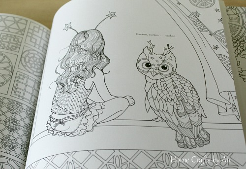 I Loved The Illustrations That Daria Song Has Created And Had A Nice Time Filling In Some Of Pages Fact It An Owl Throughout Book Is