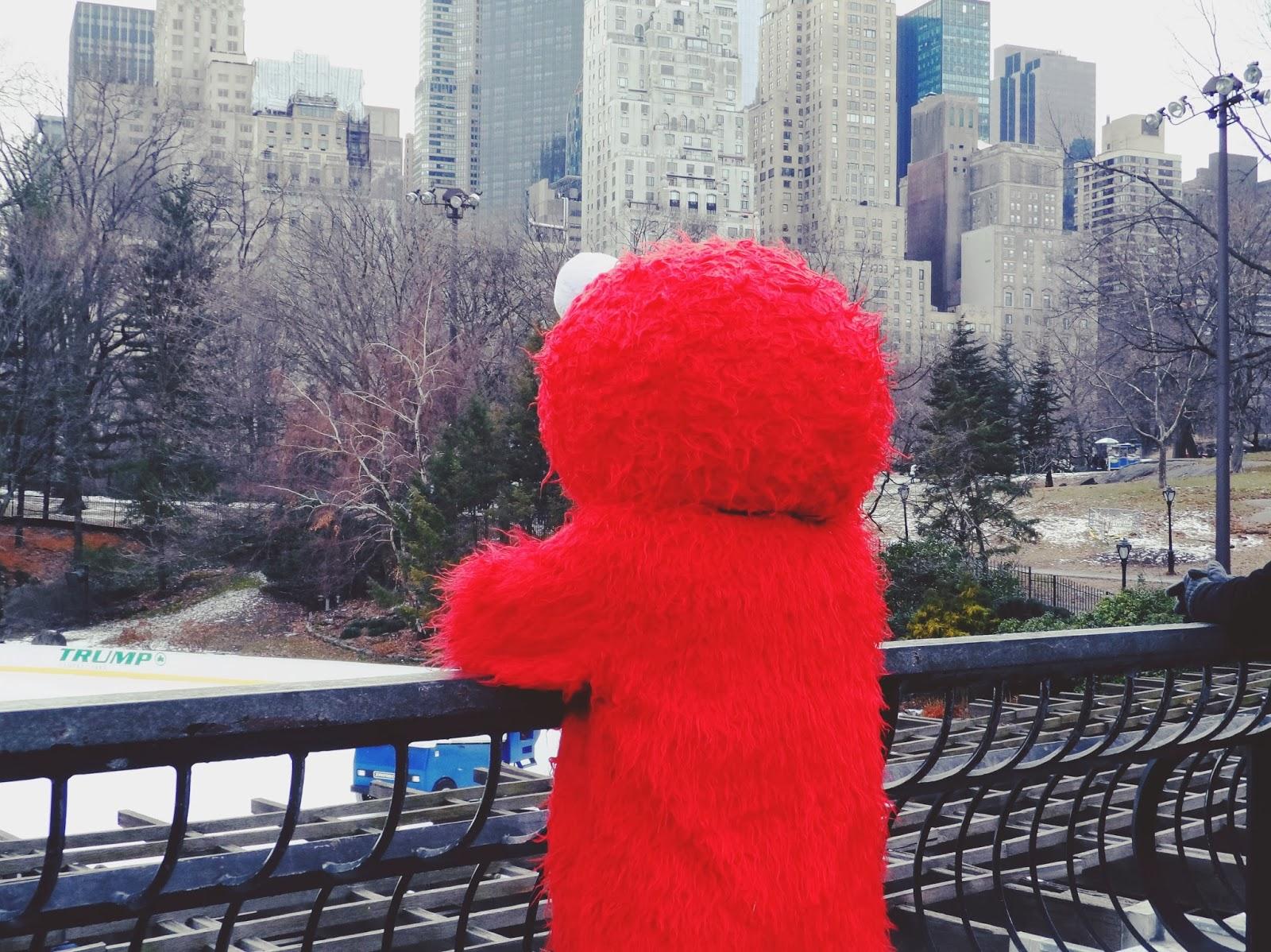 elmo, central park, new york