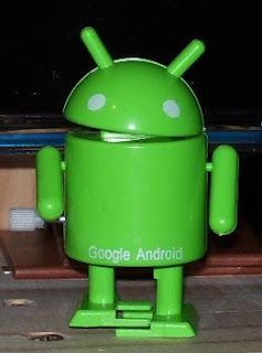 my sweetheart bought me some cute android toys, thanks dear