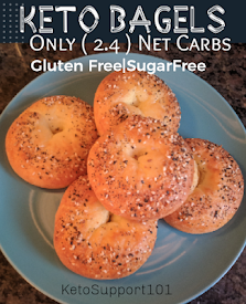#KETO BAGELS - Only 2.4 Net Carbs!